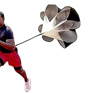 "BININBOX 56"" Speed Training Resistance Parachute Umbrella Running Fitness Explosive Power Strength Soccer Football Sport"