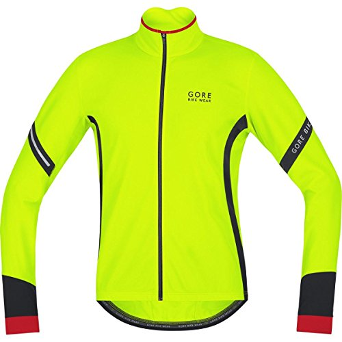 GORE BIKE WEAR, Men´s, Thermo cycling jersey, long sleeves, POWER 2.0 Thermal, Size XXL, Neon Yellow/Black, KMPOWE Top Offers
