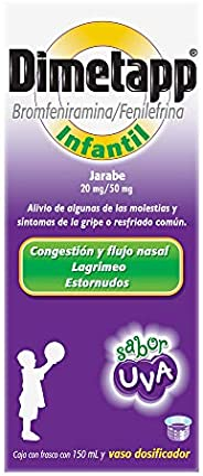 Dimetapp Jarabe para la Gripa Infantil Sabor Uva Caja con Frasco con 150 ml