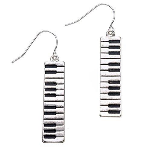 PammyJ Piano Keyboard Dangle Music Earrings
