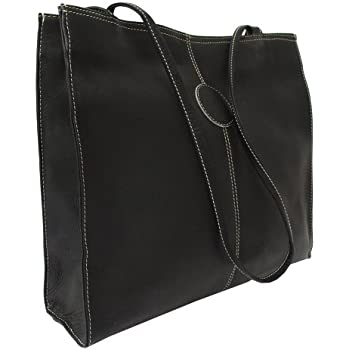 Piel Leather Medium Market Bag, Black, One Size