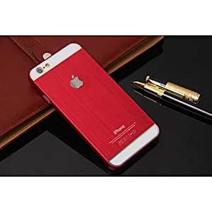 Fashionable Solid Color metal wire drawing material Hard/Soft Case for iPhone 6 Cases, iphone 6 Covers protection shell