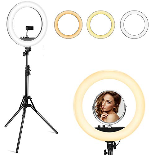 VicTsing 18 Inch Ring Light with Tripod Stand and Phone Holder 512 Led Selfie Ring Light 3200-5600K for Live Stream/YouTube Video/Photography/Makeup