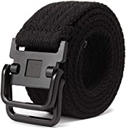 Canvas Belt, Casual Non-Porous Belt, Fabric Belt, Stretch Belt, Elastic Braided Belt for Men and Women, Width