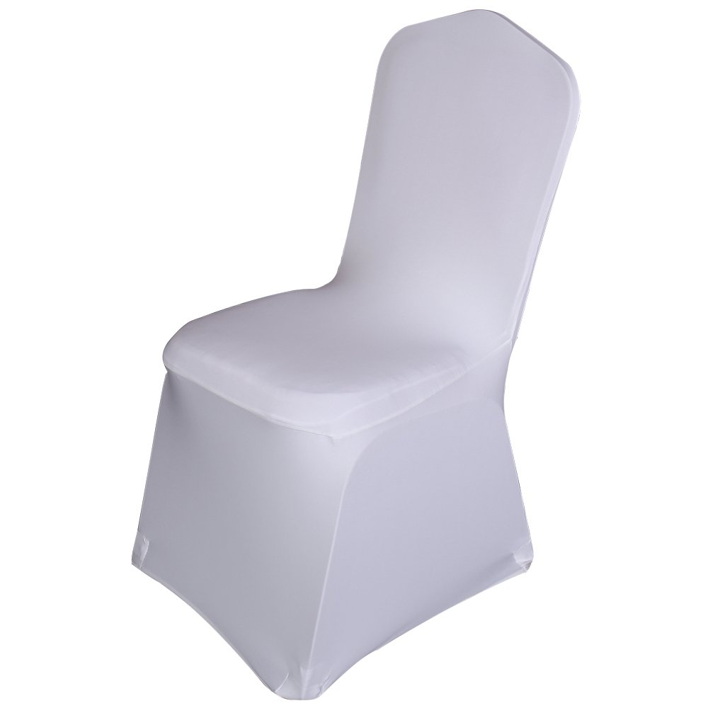 Enjoyable Best Sale Set Of 100Pc White Color Universal Size Polyester Spandex Banquet Wedding Party Decoration Stretch Dining Chair Covers Flat Bottom Download Free Architecture Designs Barepgrimeyleaguecom