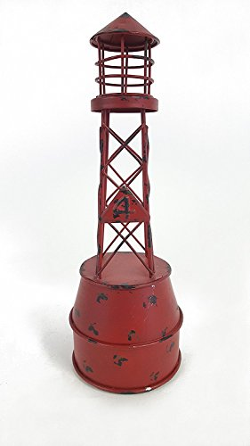 Red Nautical Metal Buoy (Boat Metal Sculpture)