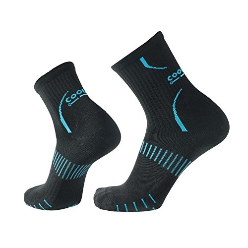 COOLMAX Unisex Quick Dry Athletic Crew Socks-5 Pairs (Medium, CMG8S) by COOLMAX