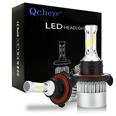 H13(9008) LED Headlight Bulbs - 6000K 8000LM Super Bright Cool White Bulb Conversion Kit 2pcs: Automotive