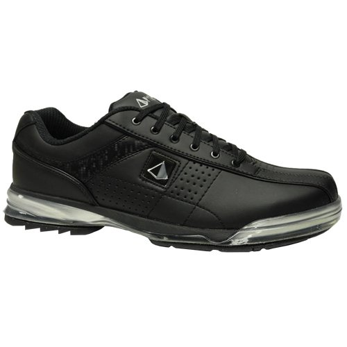 Pyramid Mens HPX Right Handed Bowling Shoes - Black/Black (8 M)