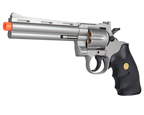 Magnum Gun Pistol (UKARMS Spring Airsoft Gun - 6 SHOT 357 MAGNUM REVOLVER w/ Shells + 6mm BBs (Silver))