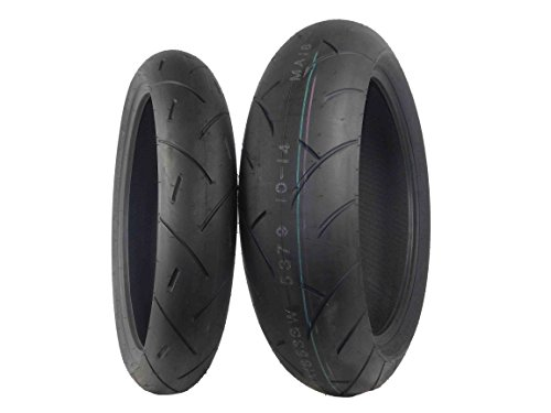Full Bore M1 Tire Set (1 Front 120/60ZR17 & 1 Rear 180/55ZR17) 120/60-17 180/55-17 Pair by Full Bore Tires