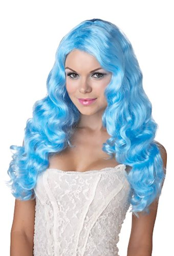 Sweet Tart Costume (Sweet Tart (Blue) Adult Wig)