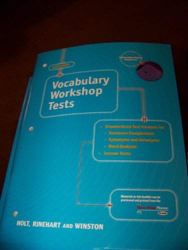Vocabulary Workshop Tests:  Introductory Course
