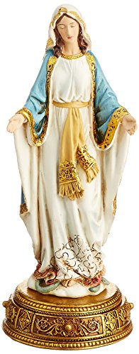 Heavenly Protectors Joseph's Studio by Roman Exclusive Our Lady of Grace Figurine on Gold Base with a Drawer That Contains a Prayer to The Saint, 10.25-Inch ()