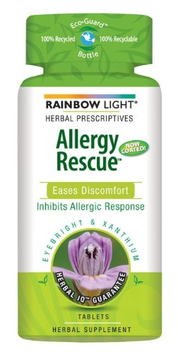Rainbow Light Allergy Rescue Food-Based Dietary Supplement Tablets, 60-Count Bottles (Pack of 2)