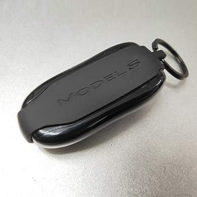 Tesla Model S Key fob case Cover, Silicone Car Key Protector Holder Tesla Key Band for Tesla (Black): Automotive
