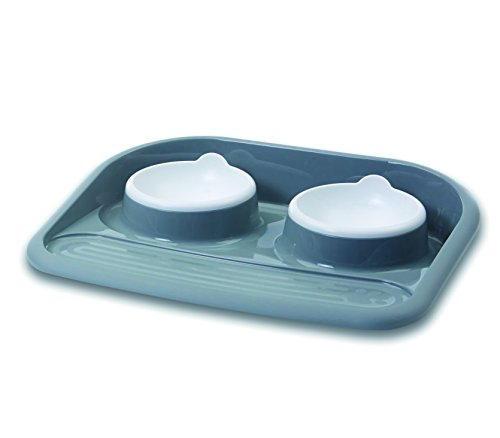 "Dinner Serving Tray ""Butler"" grau 2 x 300 ml"