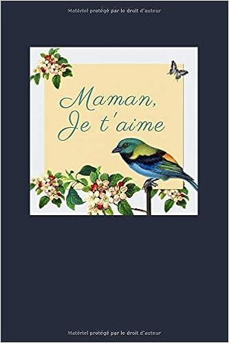 Maman Je Taime Carnet De Notes Pages Lignées Message D