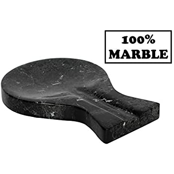 RADICALn Spoon Rest Handmade Marble Black Spatula Fork Ladle Utensil Rest - Non Wood Non Metal Cooking Spoon Organizer - Stove Top Chef Kitchen Tool Spoon Holder