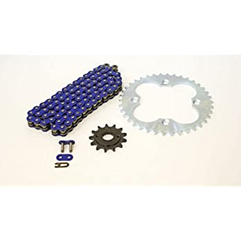 Red O-Ring Chain and Black Sprocket for 1999-2004 Honda 400EX TRX400EX 13//39 94L