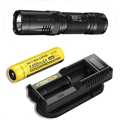 Nitecore EC21 Flashlight-460 Lumens w/UM10 Charger & NL189 Battery