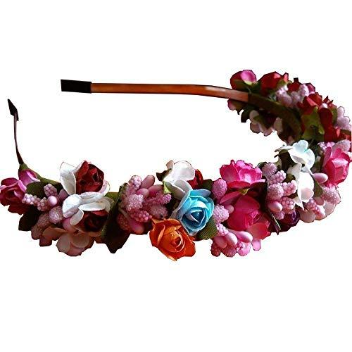 Festival Rose Garland Flower Headwear Headband Floral Hair Wreath Hairband (size - 2)