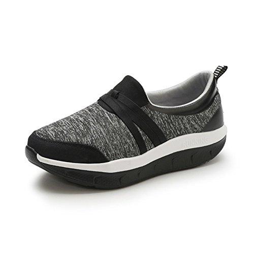 SHINIK Zapatos de mujer Primavera Verano Nuevos Zapatos de mediana edad y ancianos Zapatos de sacudida casuales Zapatos para caminar de mediana edad y ancianos Antideslizante Do