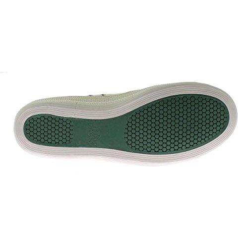 Tretorn Mens Racket Canvas Casual Fashion Sneakers Antique White/Fairway Green 6h5nL2