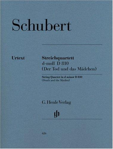 Quat.Crds D810 (La Jeune fille et la Mort) - Matériel (Allemand) Schubert Franz Henle B000E97VZO HN 626