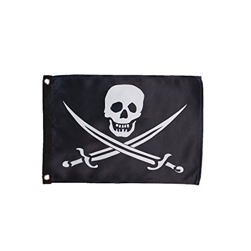 Jack Calico Rackham Flag - In the Breeze 3684 Calico Jack Lustre Grommet Flag, 12
