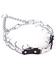 Herm Sprenger Chrome Prong Training Collar with Quick-Snap Buckle
