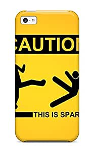 Durable Protector Case Cover With Caution This Is Sparta Hot Design For Iphone 5c