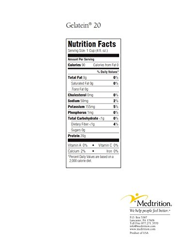 Gelatein 20 Orange: 20 grams of protein. Sugar free. Ideal for clear liquid diets, swallowing difficulties, bariatric, dialysis and oncology. Great pre or post-workout snack. (14 pack) by Medtrition (Image #4)
