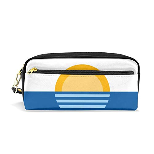 The City of Orlando Flag Canvas Cosmetic Pen Pencil Stationery Pouch Bag Case