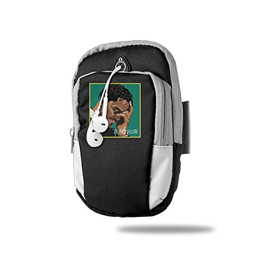 Travis Scott Birds In The Trap Sing McKnight Outdoor Sports Armband Arm Package Bag Cell Phone Bag Key Holder For Iphone 6/6s/7/7p One Size Black