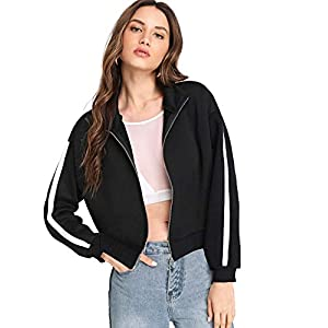 Fabricorn Plain Black Stylish Sweatshirt for Women (Black) 9