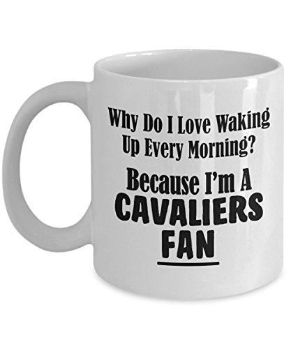 (Cavaliers Fan Mug - Love Waking Up Every Morning - Basketball Team Sports Ceramic Coffee Tea Cup - 11oz and BIG 15oz Drinkware - 11 oz)