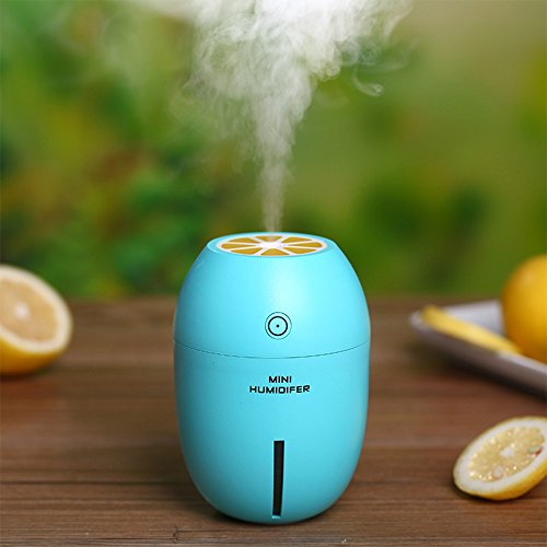 Blue Cool Mist Humidifier, 180ml Car