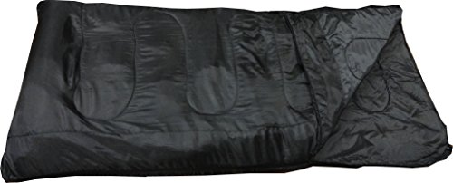 World Famous Sports 40 Degree Sleeping Bag, Black, (Core Rectangular Sleeping Bag)