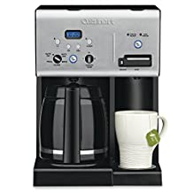 CUISINART CHW-12MIHR Renewed 12 Cup Programmable Coffeemaker and Hot Water System, Silver/Black