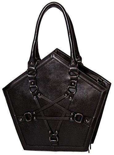 Banned Apparel Evocation Pentagrama Gótico Negro correas bolso
