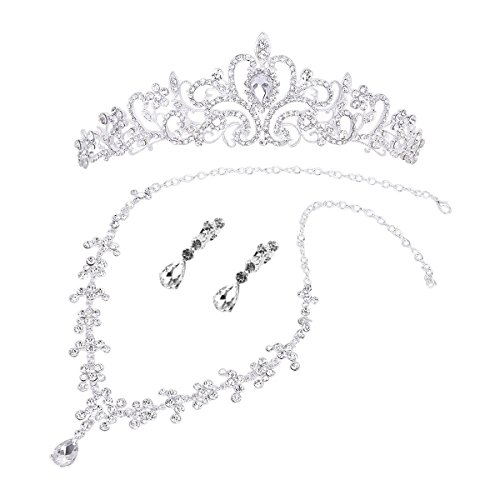 Wedding Jewelry Sets Bridal Wedding Jewelry Set Crystal Rhinestone Tiara Necklace Earring Jewelry Sets