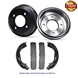 Inroble - For 2008 Chevrolet Cobalt SS (4 Lug) Premium Quality Rear Brake Drums and Drum Brake Shoes - Two Years Warranty