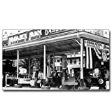 Vintage Black and White Photograph Violet Ray Metal Sign