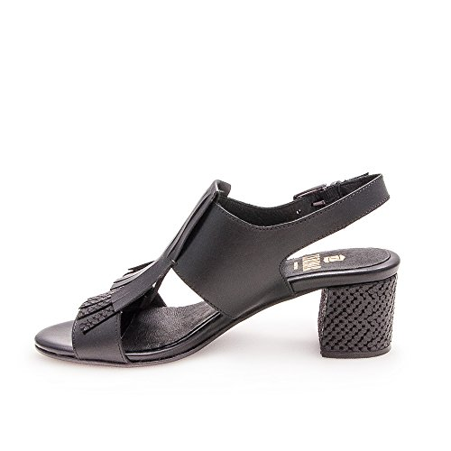 Zerimar Leather Women Sandali For Sandals Sandals Donne Per Black Women's For Cuoio Le Sandali Sandals Sandals Donna Women Da Sandali Per Le Zerimar Di Tacchi Heels Women Donne Donne Nere Cuoio Di Leather Sandali ddqnrx