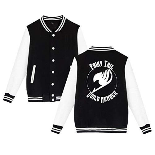 KissKid Fairy Tail Guild Member Adults Baseball Uniform Jacket Sport Coat XS ()