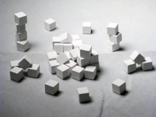 8 MM White Wood Cube / Token Pack (100/pack) by Mayday Games