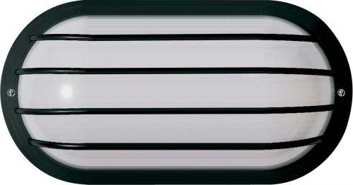 Nuvo Bulkhead Outdoor Wall (Nuvo SF77/857 Bulkhead 1-Light Oval Cage 75W A19, Textured Black)