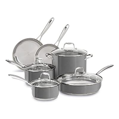 KitchenAid Stainless Steel Cookware Set (10-Piece)