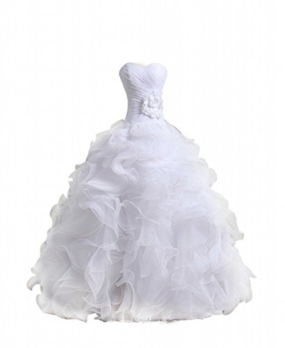 Bridal Mall Sweetheart Neckline Cascading